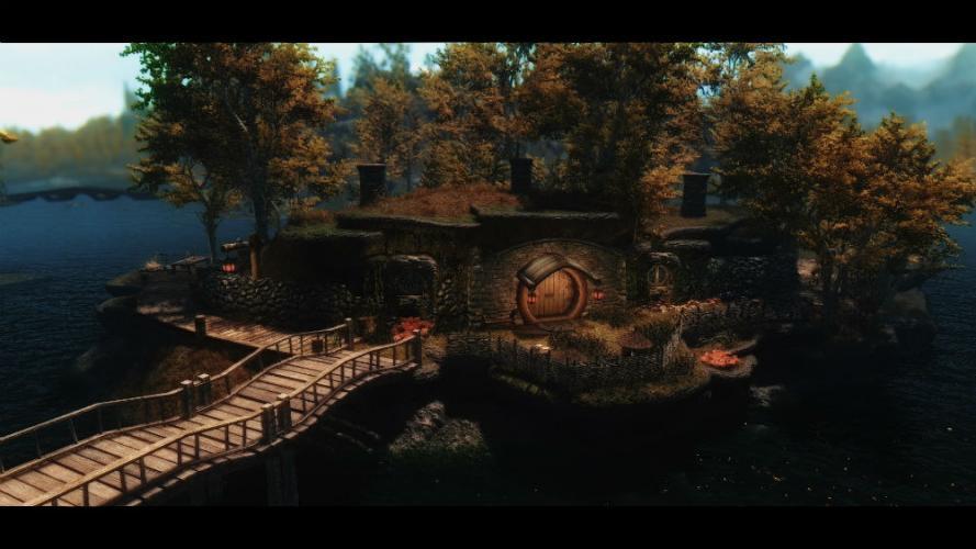 Жилище хоббита - Домик у озера / Island Hobbit Home - Revisited