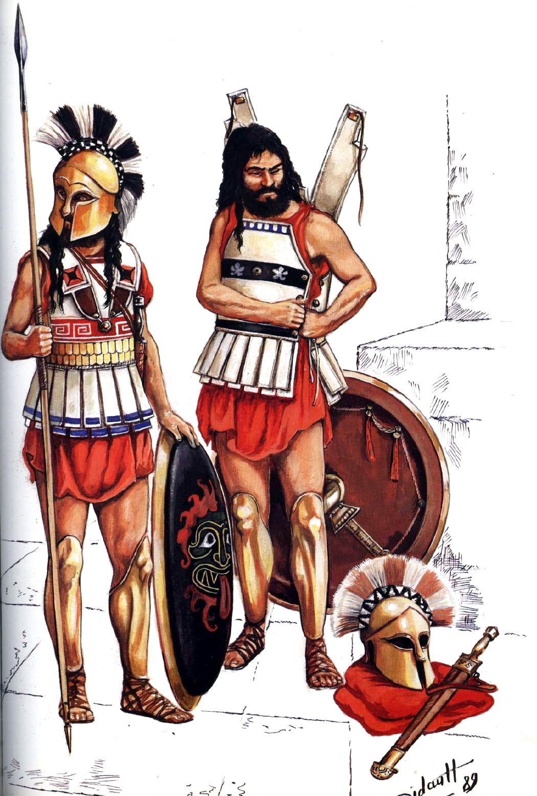 military of ancient greece